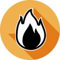 Icono de sistema contra incendios