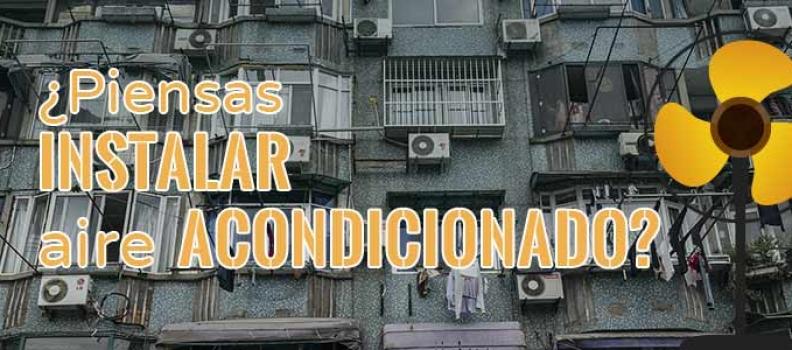 Instalación de aire acondicionado en la comunidad de propietarios
